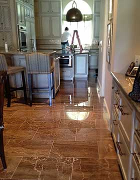 Houston residential home marble floor refinished