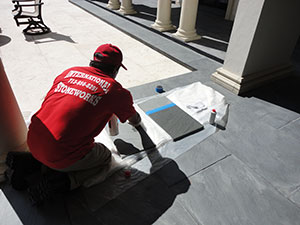 Slate being sealed with Seal & Go® S